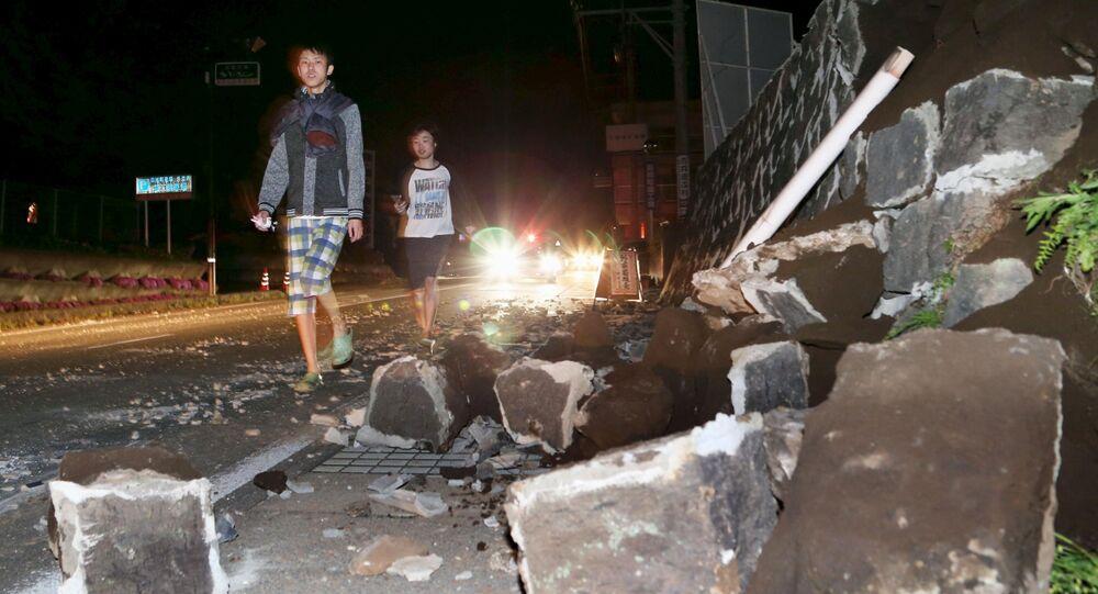 Conséquences du séisme dans la préfecture japonaise de Kumamoto