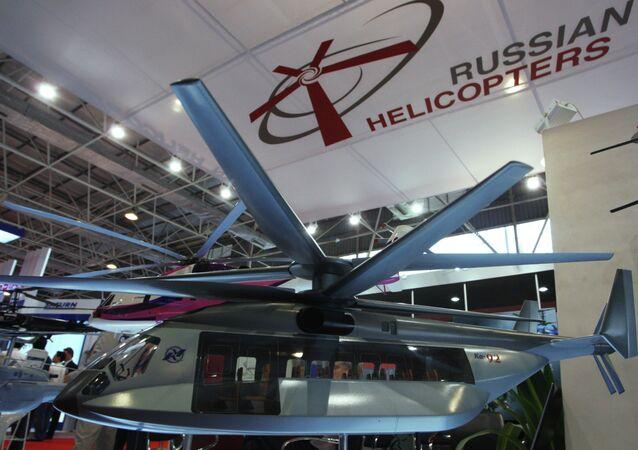 Stand de la holding Hélicoptères de Russie lors d'un salon aérospatial