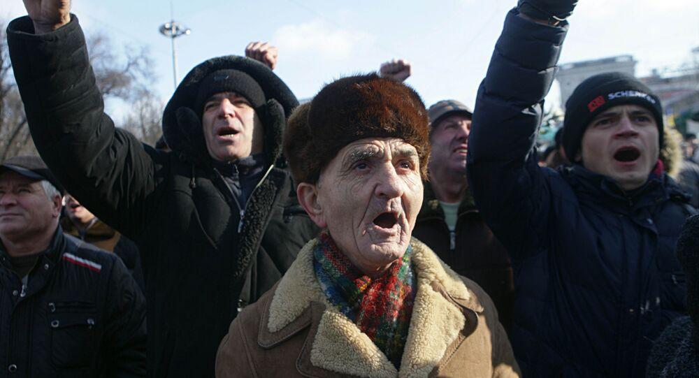 Les participants aux manifestations Pour la Moldavie