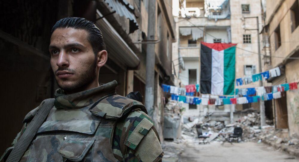 Un soldat de l'armée syrienne à Alep