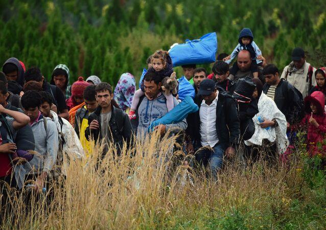 Migrants clandetins en Europe.