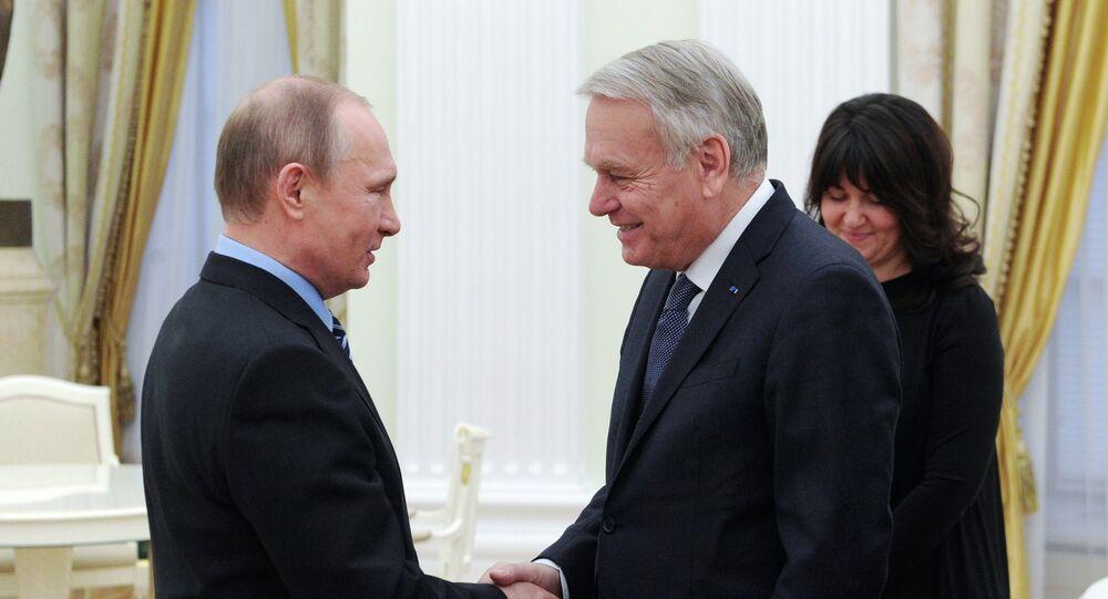 Vladimir Poutine et Jean-Marc Ayrault