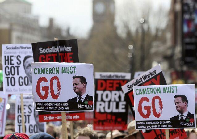 Manifestations à Londres. Archive photo