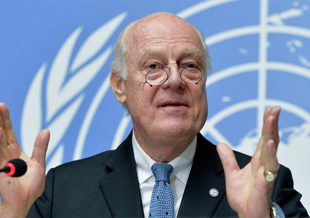 L'émissaire spécial de l'ONU pour la Syrie, Staffan de Mistura