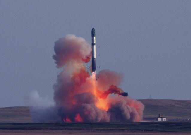 Tir d'un missile balistique russe