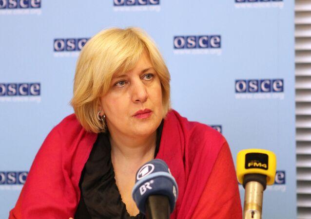 La représentante de l'OSCE pour la liberté des médias Dunja Mijatovic