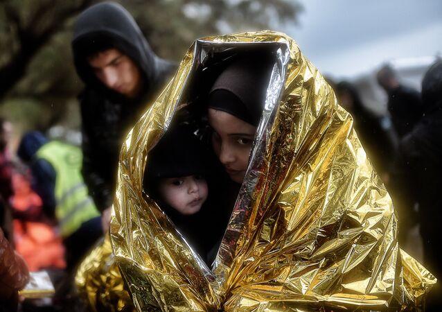 Des réfugiés. Photo d'illustration.