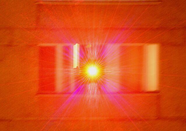 Faisceau d'un pointeur laser