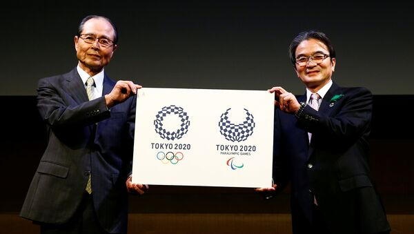Tokyo 2020 Emblems Selection Committee Chairperson Miyata and committee member Oh present the winning design of the Tokyo 2020 Olympic Games and Paralympic Games in Tokyo - Sputnik France