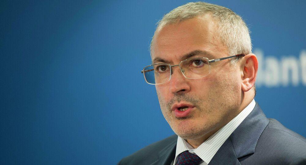 L'ex-PDG du géant pétrolier russe Ioukos Mikhaïl Khodorkovski