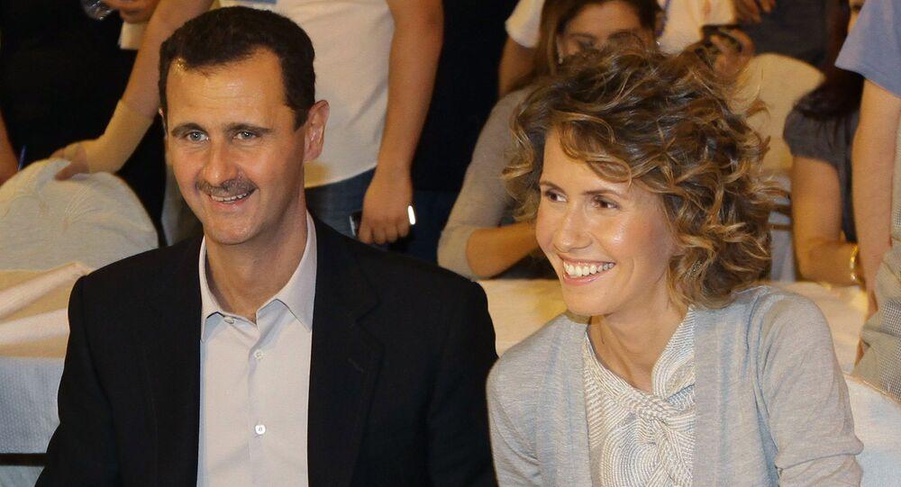 Syrian President Bashar Assad and his wife Asma (File)