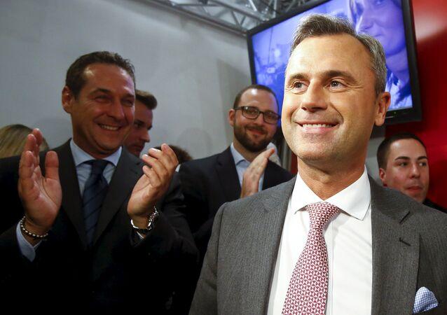 Heinz-Christian Strache et Norbert Hofer