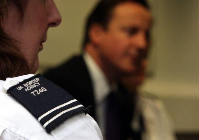 L'agent du service frontalier du Royaume-Uni