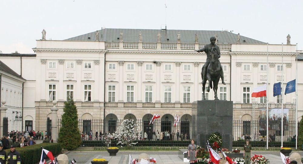 La palais du président à Varsovie