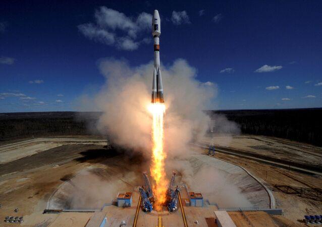 Tir d'une fusée porteuse depuis le cosmodrome Vostotchny