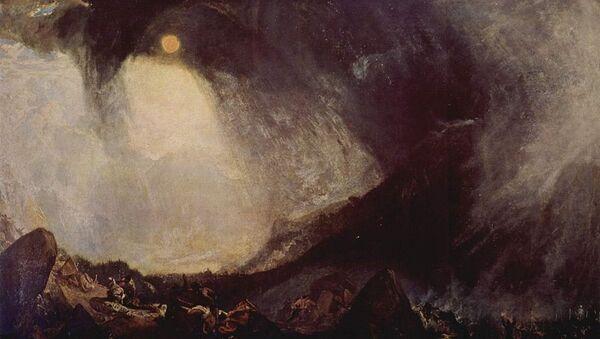 William Turner, Tempête de neige: Hannibal et son armée traversant les Alpes - Sputnik France