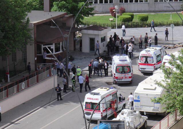une explosion à Gaziantep, Turquie