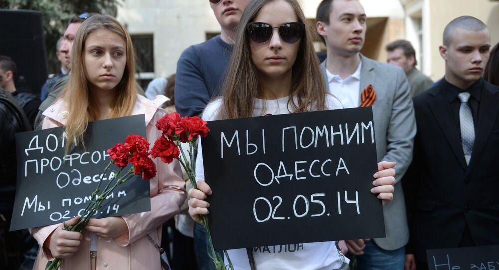 Une action de commémoration de la tragédie d'Odessa
