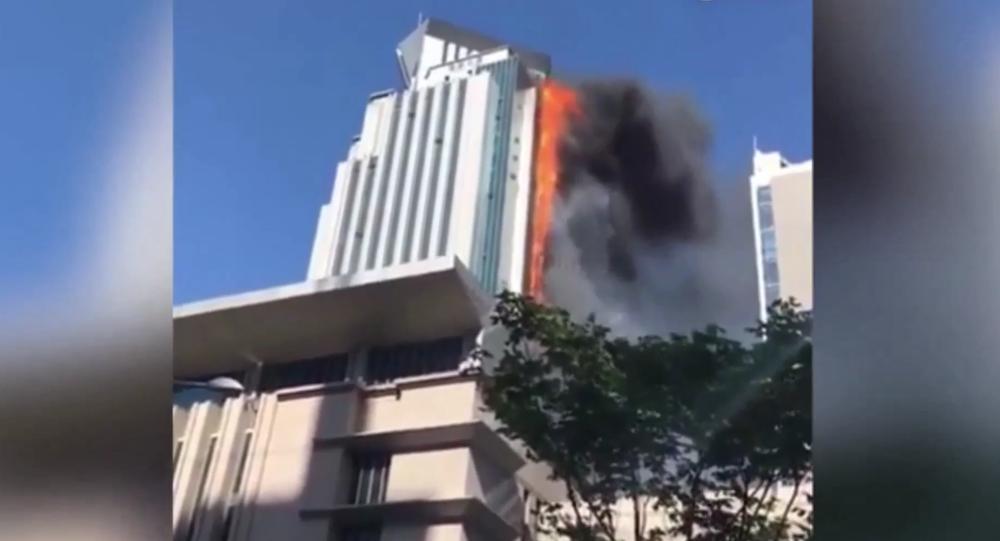 Incendie à Nankin