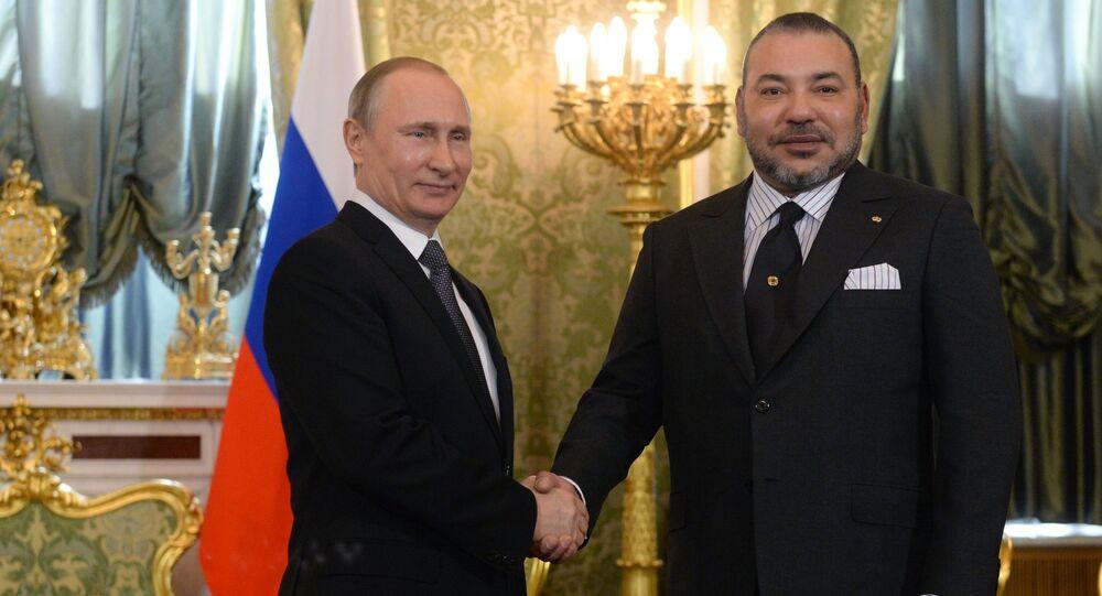 Visite du roi du Maroc Mohamed VI en Russie