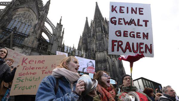 Manifestation après les événements du Nouvel an à Cologne - Sputnik France