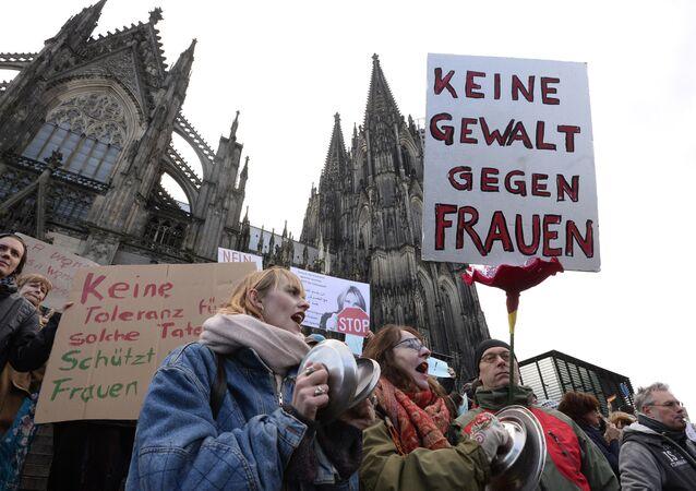 Manifestation après les événements du Nouvel an à Cologne