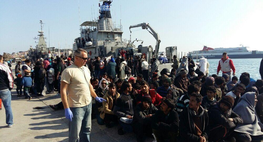 Dragoljub Simic et les migrants
