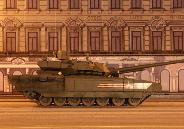 T-14 Armata. Répétition du défilé de la Victoire, Moscou