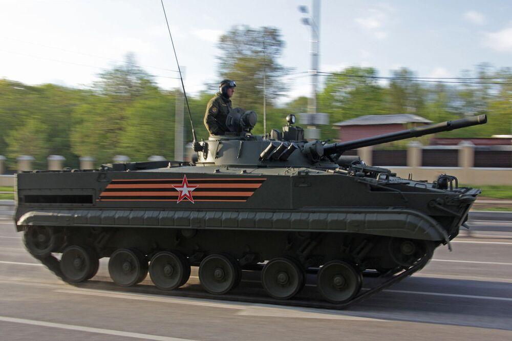 Blindé BMP-3.  Répétition du défilé de la Victoire, Moscou