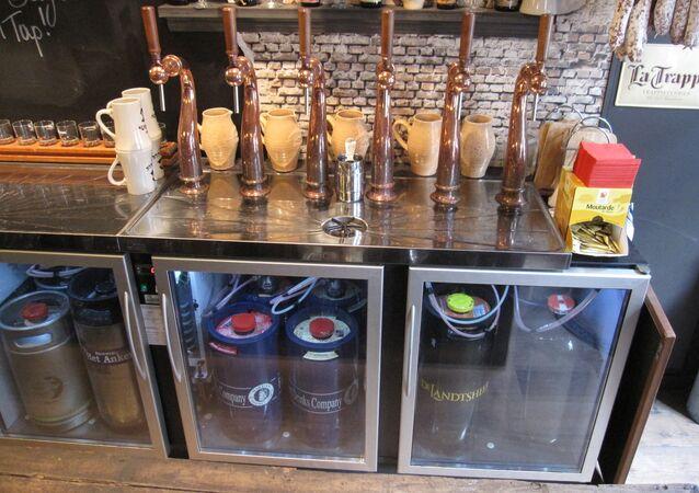 Les robinet à bière de Brugsch Bieratelier à Bruges