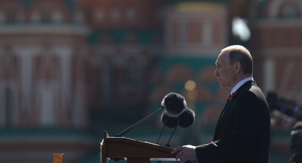 Vladimir Poutine sur la place Rouge