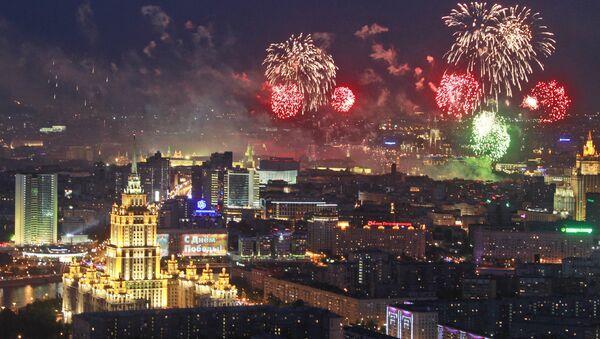 10.000 feux d'artifice dans le ciel de Moscou - Sputnik France