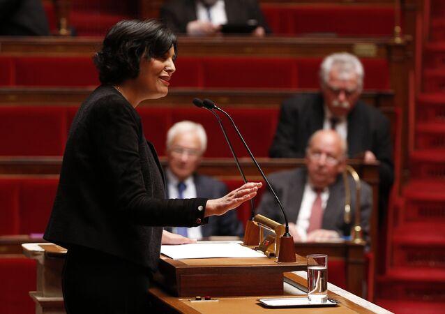 La ministre du travail, Myriam El Khomri, à l'Assemblée nationale