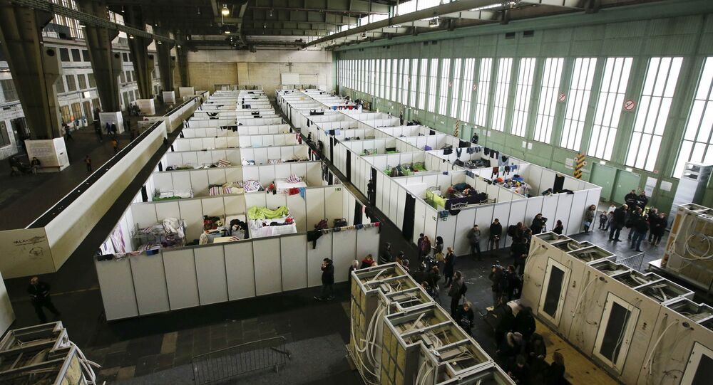 Un centre d'accueil des réfugiés à Berlin