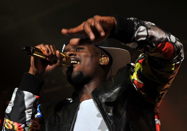 French-Guinean rapper Alpha Diallo, aka Black M, performs at the 39th edition of Le Printemps de Bourges rock and pop music festival in Bourges on April 28, 2015.