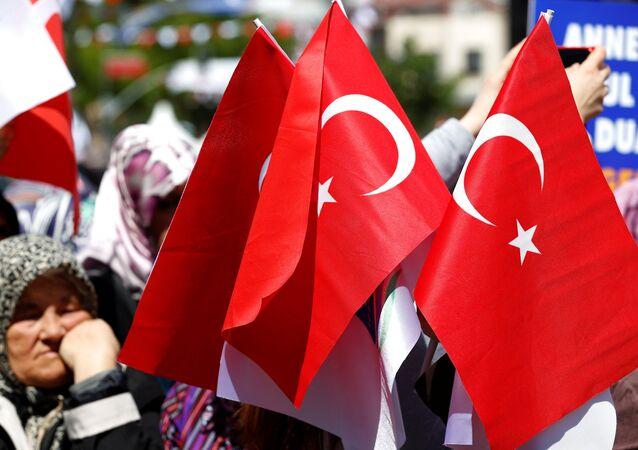 Les drapeaux de la Turquie