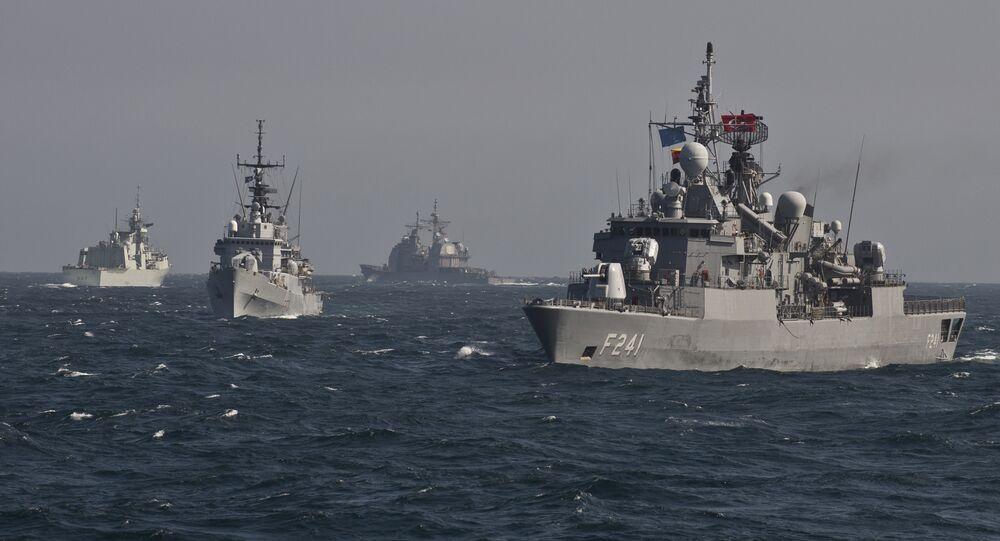 Des navires de l'Otan lors d'exercices en mer Noire (archive photo)