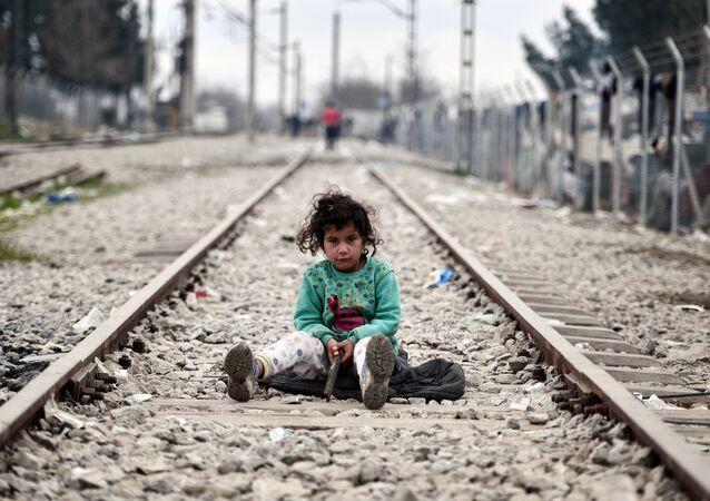 Un enfant réfugié