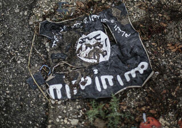 Le drapeau de l'Etat islamique