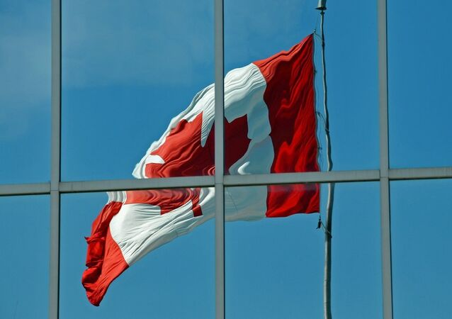 Reflet du drapeau canadien