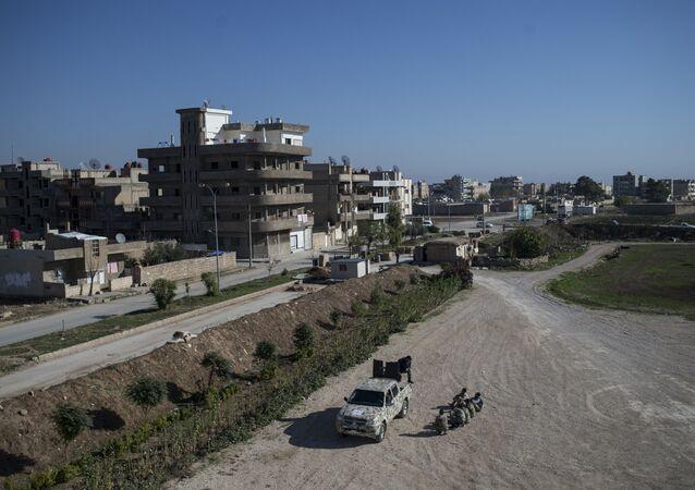 Vue sur la ville de Qamishli