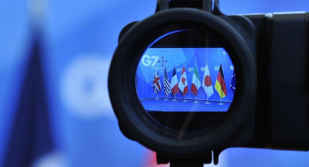 Drapeaux des pays du G7