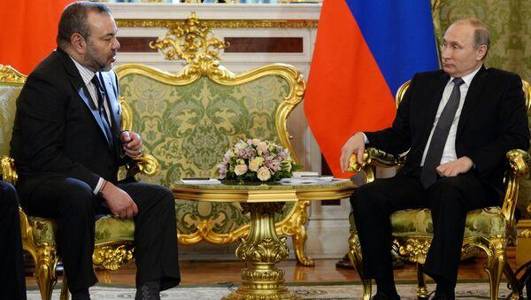 Le roi Mohammed VI et le Président Vladimir Poutine - Sputnik France