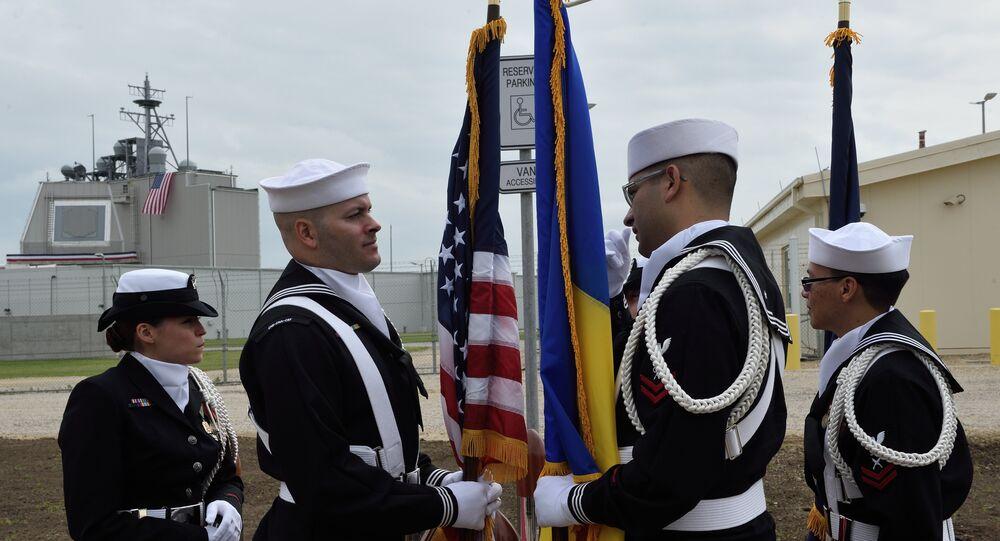 La cérémonie d'inauguration du système de défense antimissile US en Roumanie