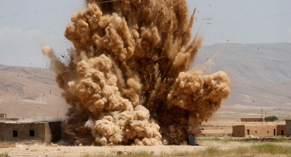 une explosion, image d` illustration