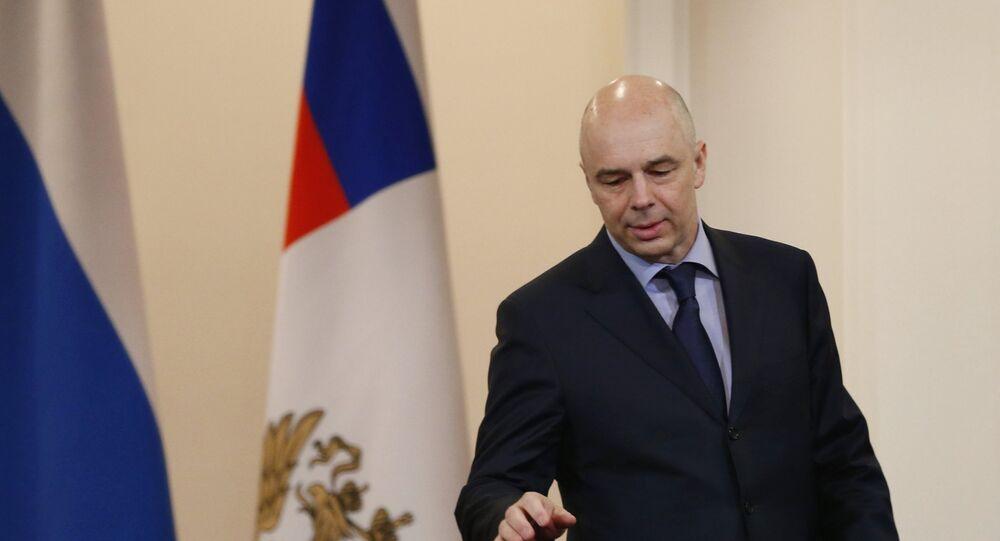 Ministre russe des Finances Anton Silouanov