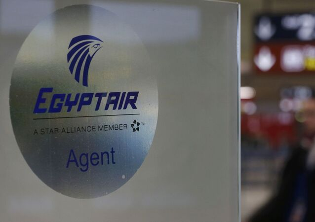 Le comptoir EgyptAir de l'aéroport Charles-de-Gaulle