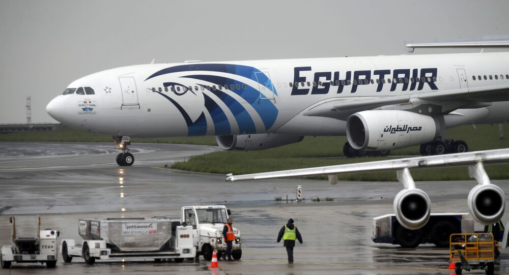 Un avion d'EgyptAir effectuant le vol Paris-Le Caire après le vol disparu MS804