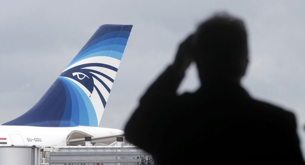 Une inscription menaçante sur la carlingue de l'A320 d'EgyptAir