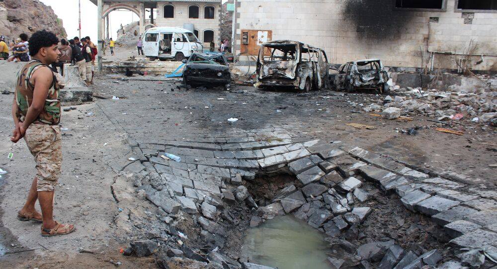 Attentat suicide à Aden. Archive photo